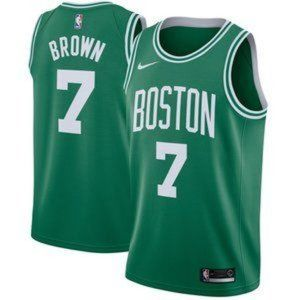 Nike Men's Boston Celtics Brown Green Jersey 7#